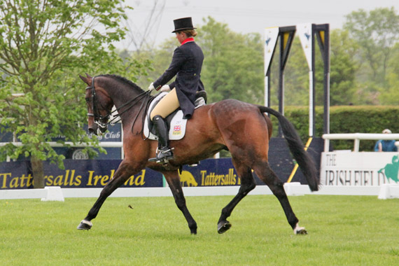 Tattersalls CCI3* leaders Kitty King and Persimmon.