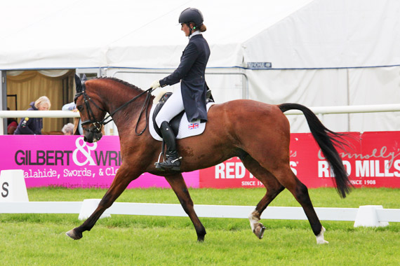 Millie Dumas and Artistiek lead the George Mernagh Memorial CIC3*  at Tattersalls in Ireland.