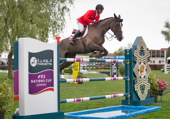 Romain Duguet and Quorida de Treho produced one of three double-clear performances that clinched the Belgian Nations Cup lef for the Swiss side.