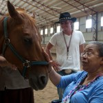 Spending time with horses can help those suffering from Alzheimer's dementia, a study has shown. Photos: Johnny Runciman Photography, courtesy of Ohio State University