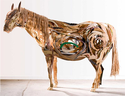 """""""Mare"""", made from wood."""