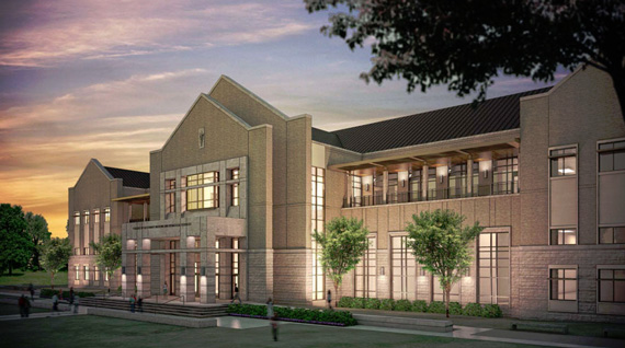 An artists impression of Texas A&M University's new veterinary and biomedical sciences complex.
