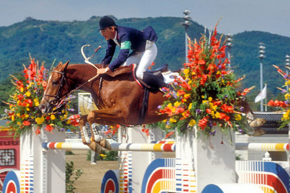 Hubert Bourdy and Morgat competing at the 1988 Seoul Olympic Games where they were on the bronze-medal winning French team.