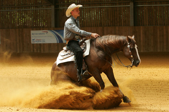 British WEG reining team member Josh Collins.