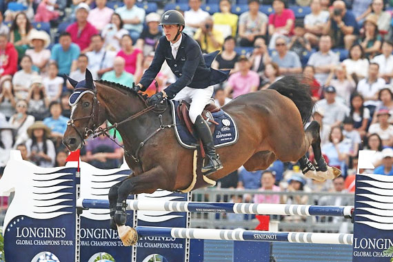 Pieter Devos and Dream of India Greenfield won the inaugural Longines Global Champions Tour of Shanghai Grand Prix on Saturday.