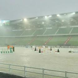 WEG stadium stands up to torrential rain; jumpers happy