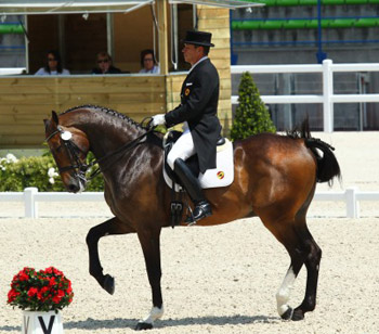 Freestyle Grand Prix winner Cristobal Belmonte and Diavolo II De Laubry.