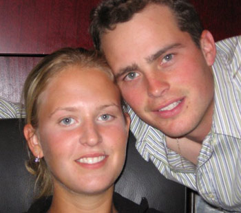 Jordan McDonald with his wife, Shandiss.