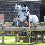 Melbourne CCI3* leader Stuart Tinney and Pluto Mio.