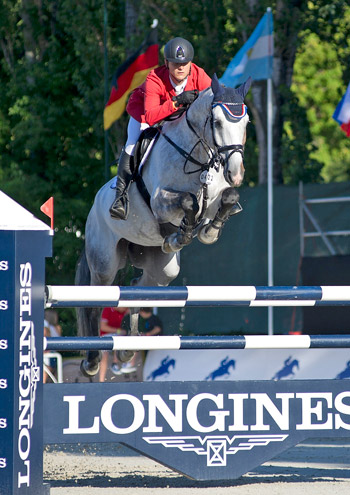 Ales Opatrny riding VDL Fakir for the Czech Republic team.