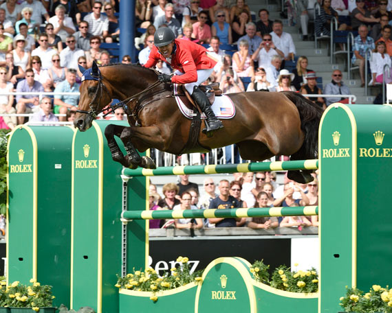 Kent Farrington and Voyeur, second in the Rolex Grand Prix.