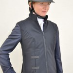 Dressage rider Zoe Sleigh, who is pictured wearing the Helite Air Shell Gilet over her tailcoat, said: I like the design of the Gilet and it's great that air jackets are becoming more popular with dressage riders.""