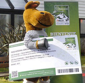 Games mascot Norman is all set with his tickets for WEG 2014.