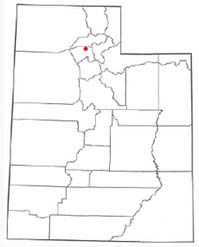 Location of Syracuse in Utah.