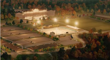 An artist's impression of the new equestrian center at Tryon, once fully developed.