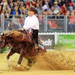 Individual reining leader Andrea Fappani and Custom Cash Advance.