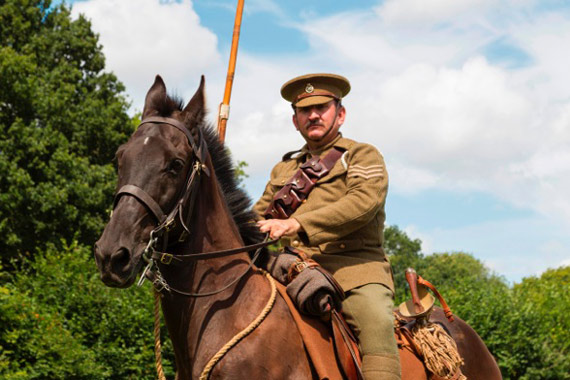 Andy Smerdon and his horse Mack are leading the Sea to the Somme ride.