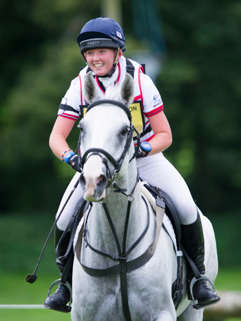 British rider Ella Hitchman and Rocky Rockstar.