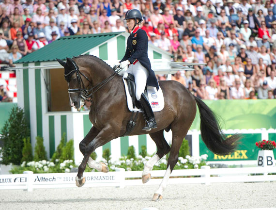 Charlotte Dujardin and Valegro on their way to winning Grand Prix Special Gold.