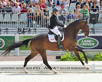 Canada's Roberta Sheffield finished just out of the medals in fourth in the Grade III on Bindro T.