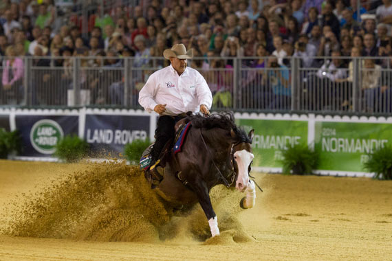 Shawn Flarida rode Spooks Gotta Whiz to win individual Reining gold.