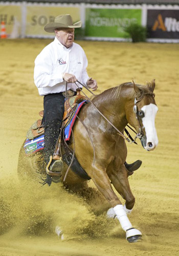 Troy Heikes (USA) and Lil Gun Dunit were the leaders in the second individual Reining qualifier at the Alltech FEI World Equestrian Games.
