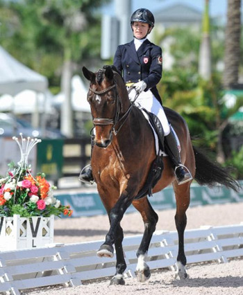 Belinda Trussell and her Games horse Anton.
