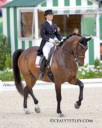 Canadian Dressage Team anchor rider, Belinda Trussell is among the top 30 invited to move forward to the Grand Prix Special on August 27. Riding Anton, she placed 26th individually.