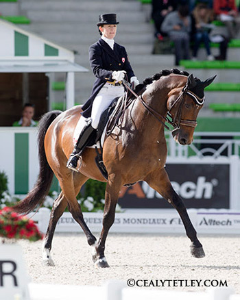 Canada's Belinda Trussell enjoyed an extra-special birthday on August 27 after earning a personal best score of 72.409%  in the Grand Prix Special.