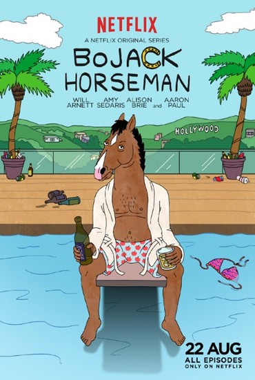 The poster promoting the new Netflix series Bojack Horseman.