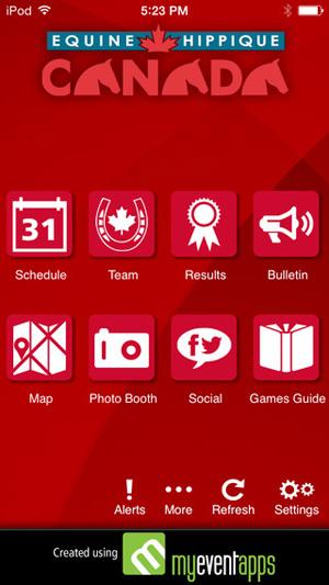 Equine Canada's smartphone app.