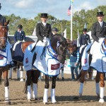 Denmark won the sixth and final leg of the FEI Nations Cup Dressage 2014 pilot series at Hickstead on Saturday. L-R: Ulrik Moelgaard, Rikke Svane and Anders Dahl.