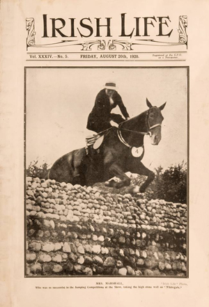 Sidesaddle jumping in 1920.