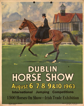 An early Dublin Horse Show poster.