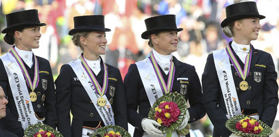 Germany claimed its sixth team dressage world title at Normandy.