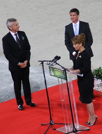 FEI President Princess Haya welcomed athletes and spectators to the Games.