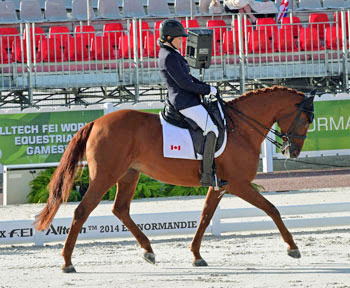 Grade II silver medalist Lauren Barwick (Canada) and Off to Paris.