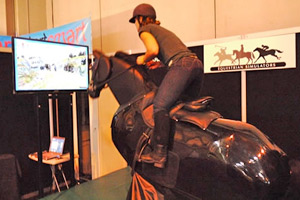 A team competition on a Racewood Simulator is being hosted at the British Pavilion.