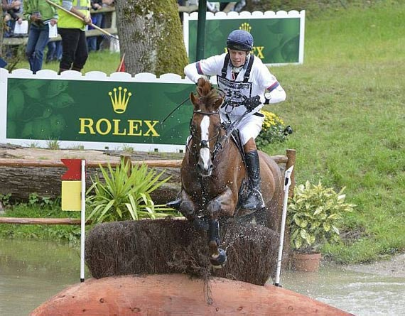 Eventing leaders Willian Fox-Pitt and Chilli Morning.