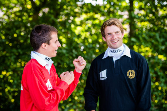 Markel jockeys William Buick, left, and Sam Thomas.