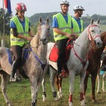 Members of the gold medal winning Croatian team at the FEI Balkan Endurance Championships in Belgrade, Serbia.