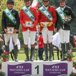 Germany's win at Montelibretti put the team back in the lead of the FEI Nations Cup Eventing series. Pictured from left, Robert Sirch, Jörg Kurbel, Bodo Battenberg and Wolf Dieter-Eckl. Massimo Argenziano/FEI