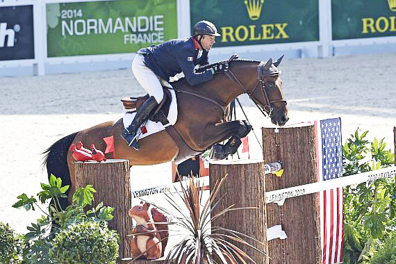 Individual leader Patrice Delaveau (France) and Orient Express.