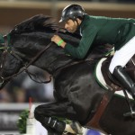 Khaled Al Eid and Presley Boy at the Global Champions Tour in Abu Dhabi in November 2011.