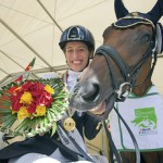 Italy's Sara Morganti has been voted the International Paralympic Committee's best female Allianz Athlete of the Month for August following the Alltech FEI World Equestrian Games 2014 in Normandy (FRA) - she is pictured at the Games with her mare Royal Delight.