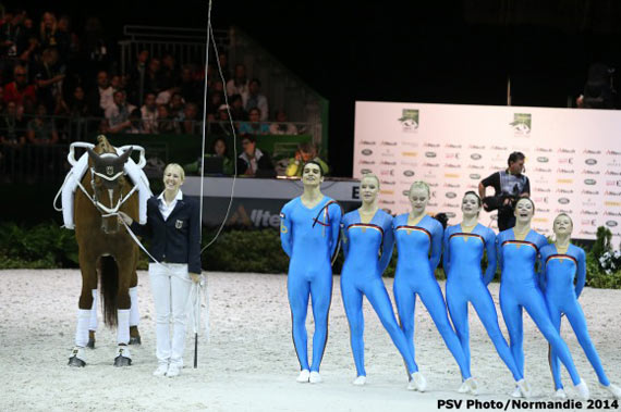 Germany leads team vaulting rankings.