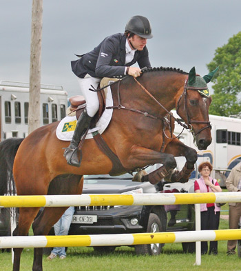 Newly crowned Irish National Show Jumping champion, Tipperary's Greg Broderick, pictured riding MHS Going Global (ISH) who was named leading horse of the Premier Series.