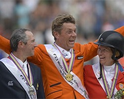 Dubbeldam jumps four clear rounds to WEG gold
