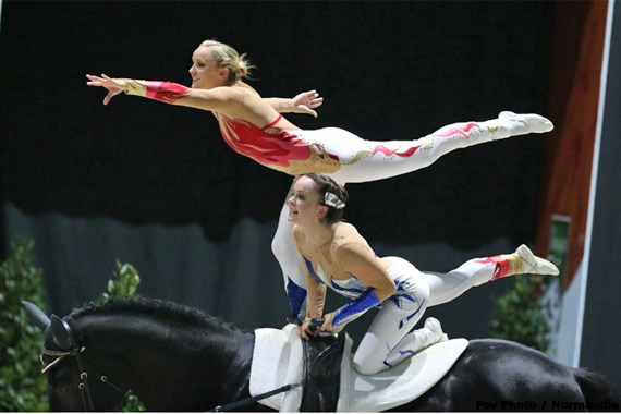 Individual World Champion Joanne Eccles and her sister, Hannah, in the Pas de Deux, where they won a bronze medal.