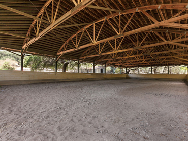 The covered riding arena was built in 1930. Photo: Photo: Sothebyshomes.com/